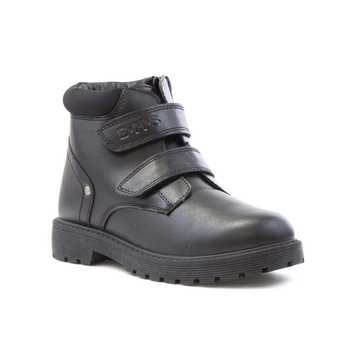 Buckle My Shoe Boys Black Riptape Ankle Boot