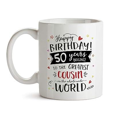 Amazon 50th Happy Birthday Gift Mug