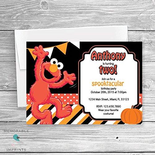 Elmo Halloween Party Invitation