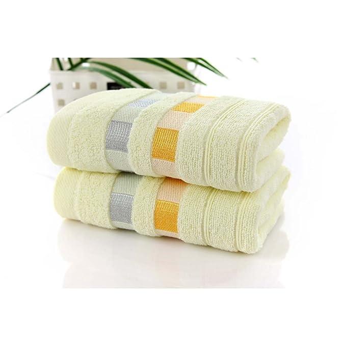 Limiz Toalla Algodón Color Liso Cinta Toallita Cuadrada Palabra Bordada 34 * 74cm Toalla para Adultos * 2 (Color : A): Amazon.es: Hogar