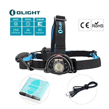 Olight H15s Wave 250 Lumens Lampe Frontale Led Cree Xm L2 Lampe