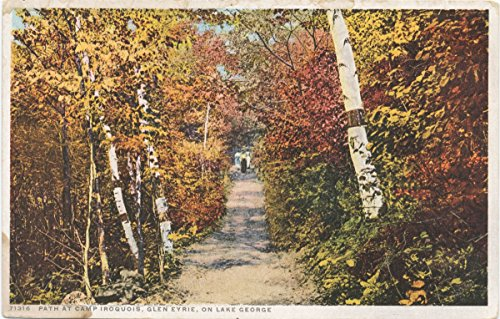 - Historic Pictoric Postcard Print | Path to Camp Iroquois, Glen Eyrie, Lake Geroge, N. Y, 1913-1918, re- issued through 1930 | Vintage Fine Art