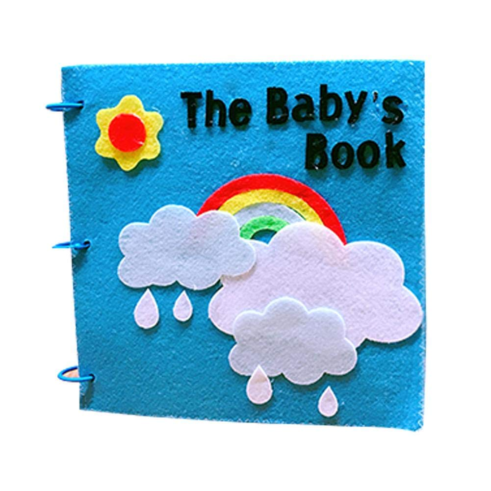 Samber Early Education ClothBook FeltSoft ClothBooks HomemadePictureBookChildren'sManualDIYMaterialBabiesClothBookKids CognitiveDevelopment Learning Books