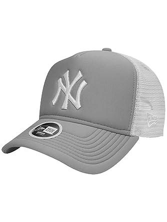 c5225d74 New Era Womens Essential Trucker A-Frame New York Yankees Cap Grey OSFA:  Amazon.co.uk: Clothing