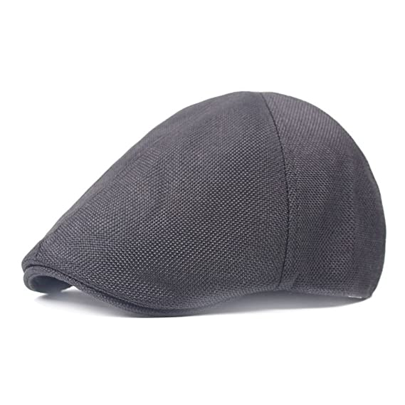 f66373e8e19fe King Star Men s Linen Duckbill Ivy Newsboy Hat Scally Flat Cap Black 1   Amazon.ca  Clothing   Accessories