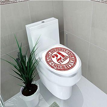 893d62f8284 Amazon.com : Toilet Sticker, 21st Birthday Decorations, Logo Icon ...