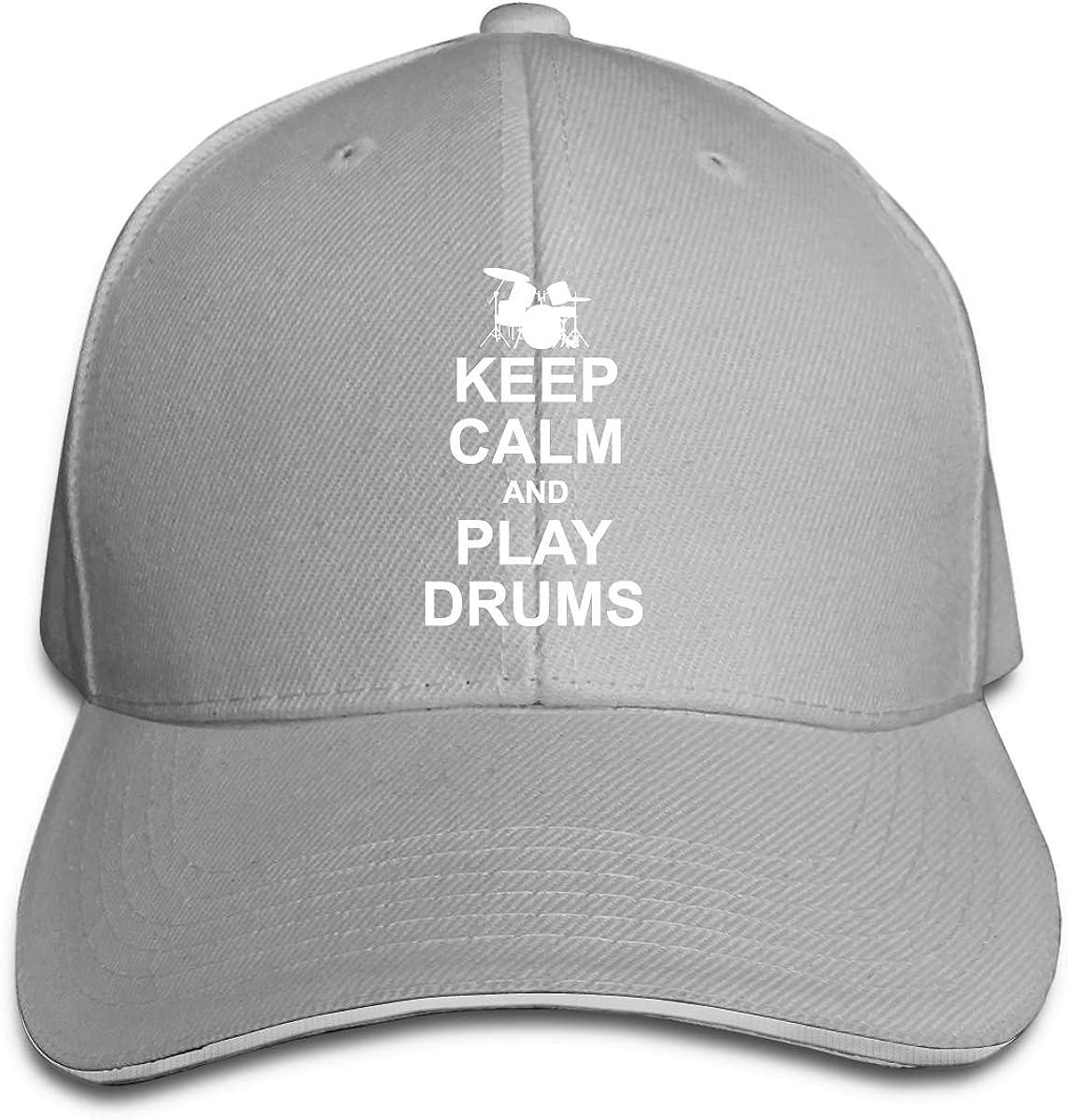 Vintage Style Drumming Drummer Unisex Personalize Denim Casquette Adjustable Baseball Cap