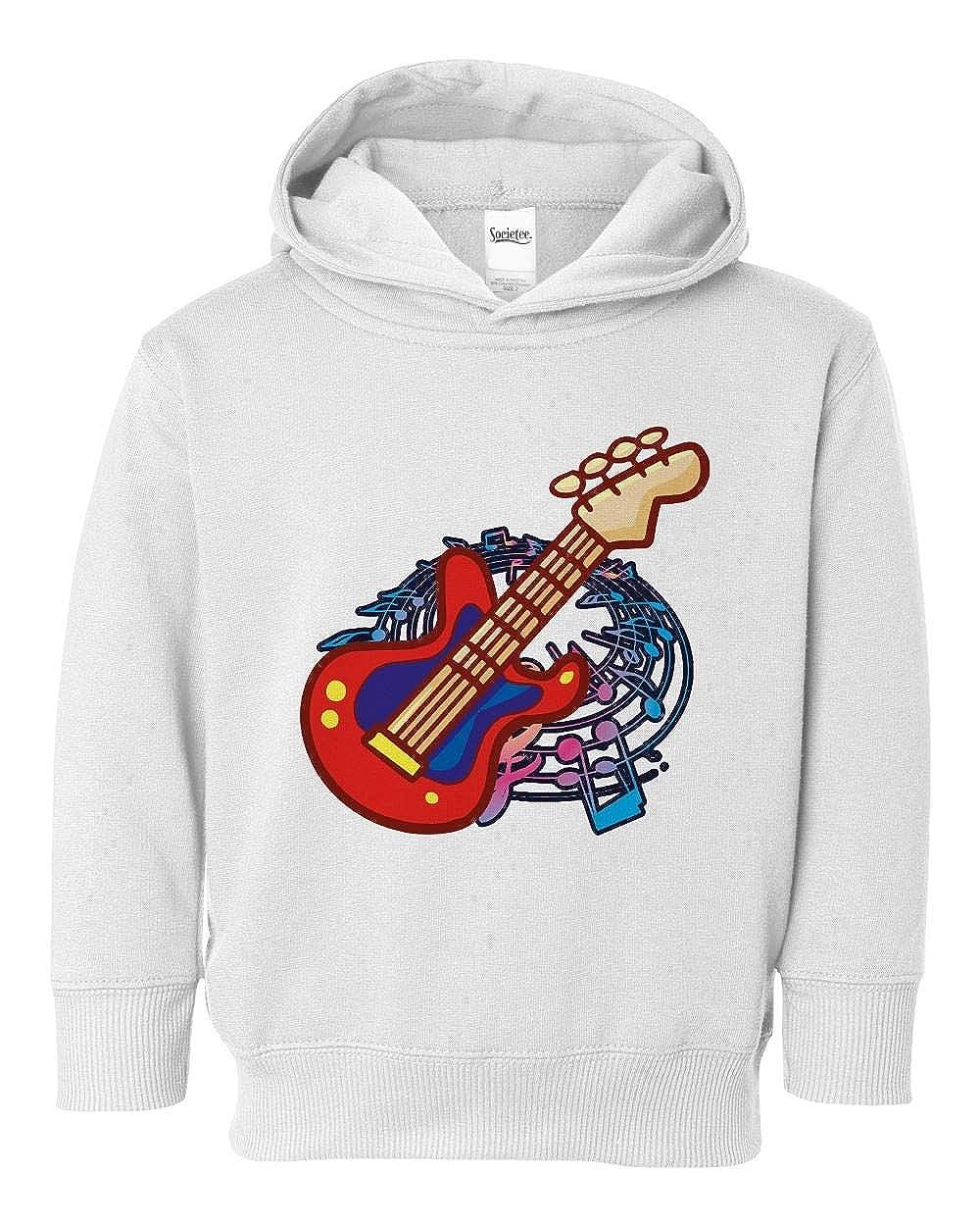 Societee Electric Guitar Music Cute Girls Boys Toddler Hooded Sweatshirt