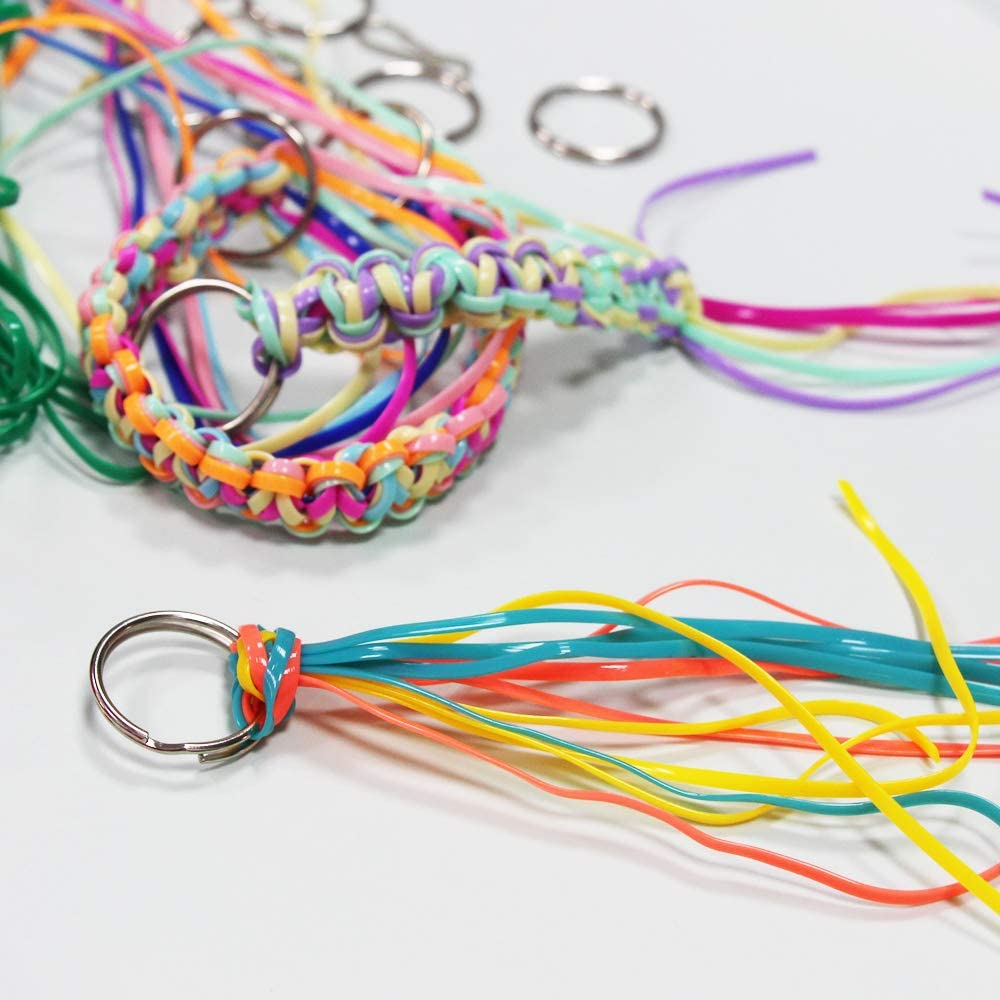 Gimp String Plastic Lacing Cord for Bracelets Scoubidou Kits 30 Colors