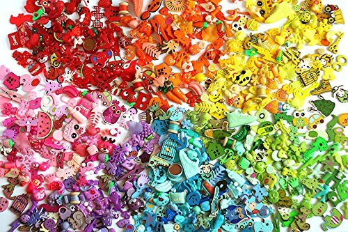 Rainbow I Spy trinkets by TomToy for colorful I spy bags bottles, Colorful miniatures, Colors of the rainbow, 1-3cm, Set of 5/10/20 trinkets in 7 colors (5 trinkets in every color)