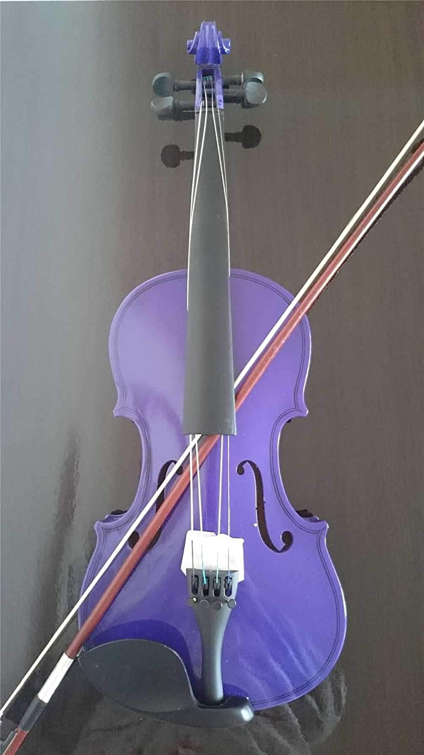 Student Acoustic Violin Full 1//4 Maple Spruce with Case Bow Rosin Purple Color
