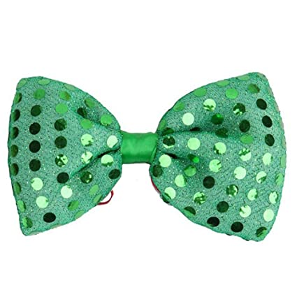 b5a485c34e0f Fovolat   Light Up Silver Sequin Bowtie LED Light Up Flashing Sequin Bow  Ties Tie for Girl and boy: Amazon.ca: Home & Kitchen