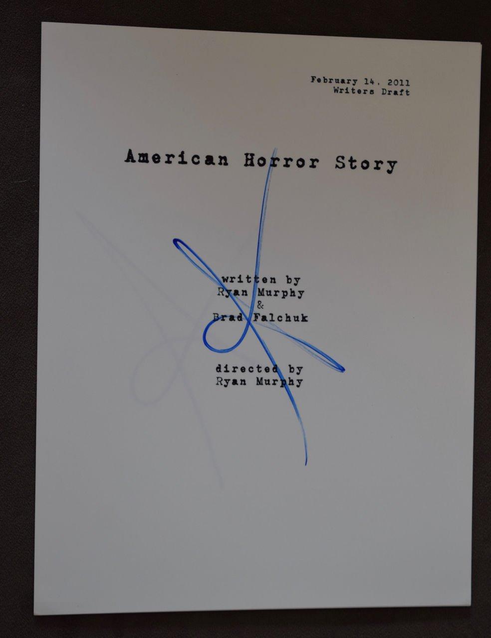 Sarah Paulson Signed Autographed American Horror Story Pilot Episode Script COA Unbranded