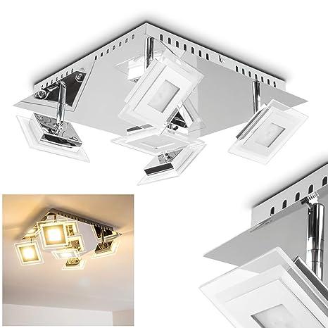 Plafoniera faretto Led quadrato design moderno- Faretti orientabili ...