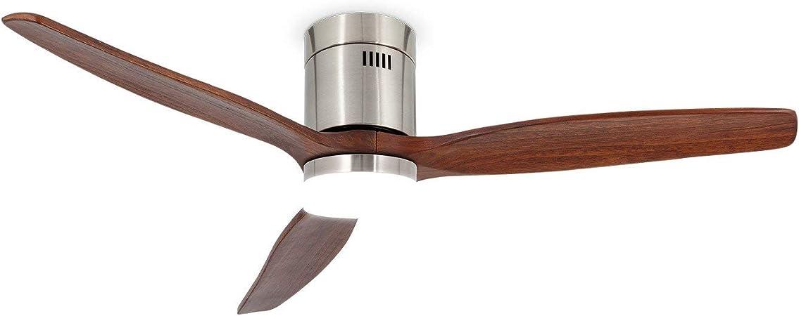 IKOHS LIGHTCALM Nickel - Ventilador de Techo 40W DC Reverse con ...