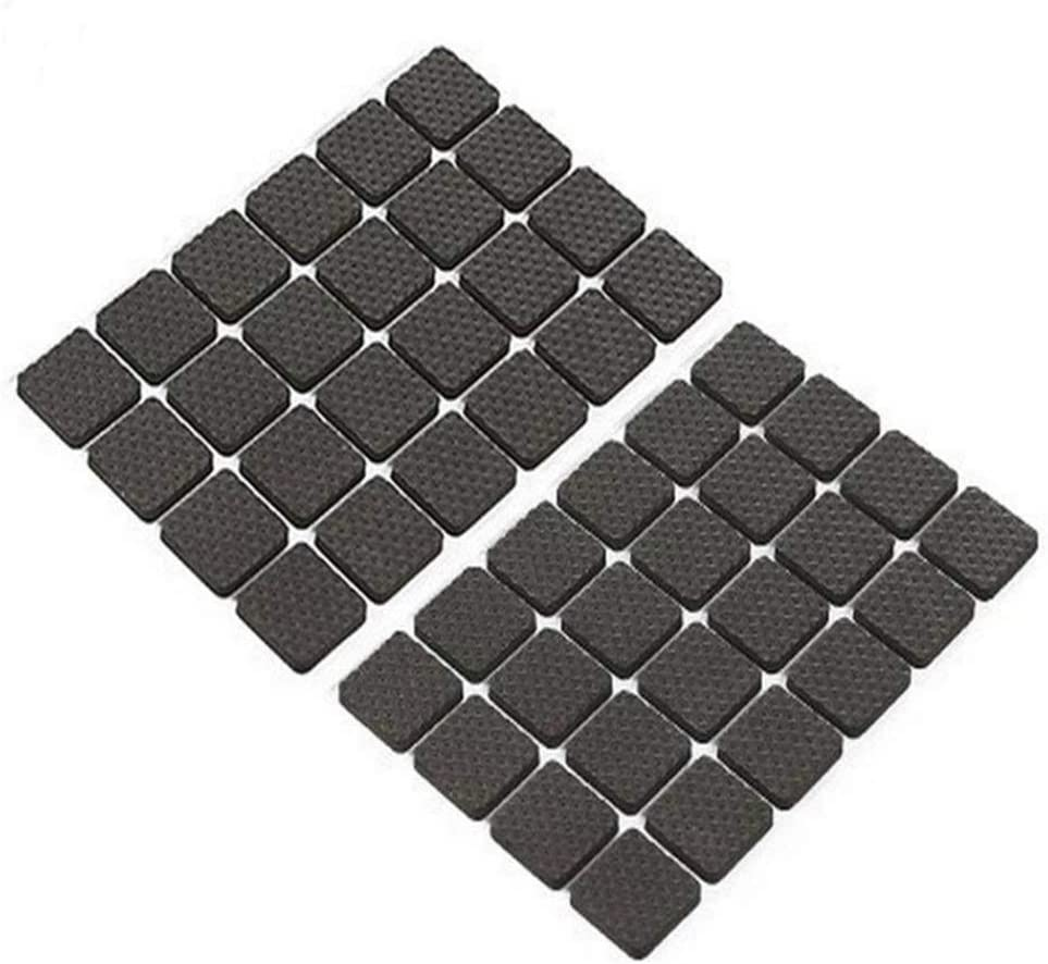 Round Shape Non-Slip Furniture Pads Anti-Skid Stool Grippers Self Adhesive Rubber Feet Pads for Chair Table Sofa Soft Bumpers Home Floor