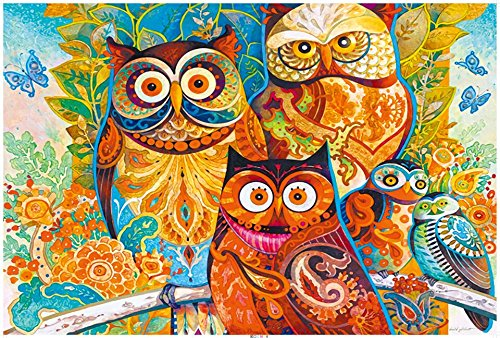 Ingooood-Jigsaw puzzle-2018 Painting Series-Owl family-1000 Pieces for Adult Special Graduation Birthday Gift Decompression Game Home D