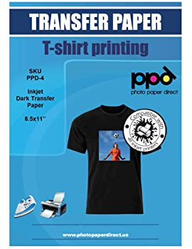 PPD Inkjet Iron-On Dark T-Shirt Transfers Paper