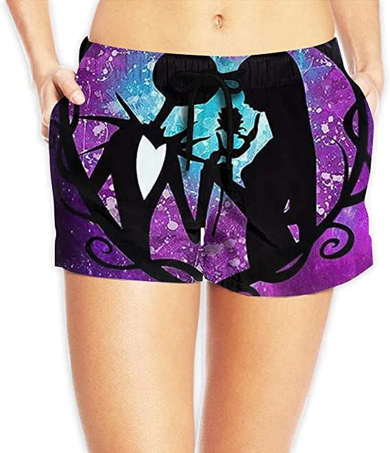 Jack and Sally split leg inspired costume Cosplay Nightmare Before Christmas hot pants bikini shorts