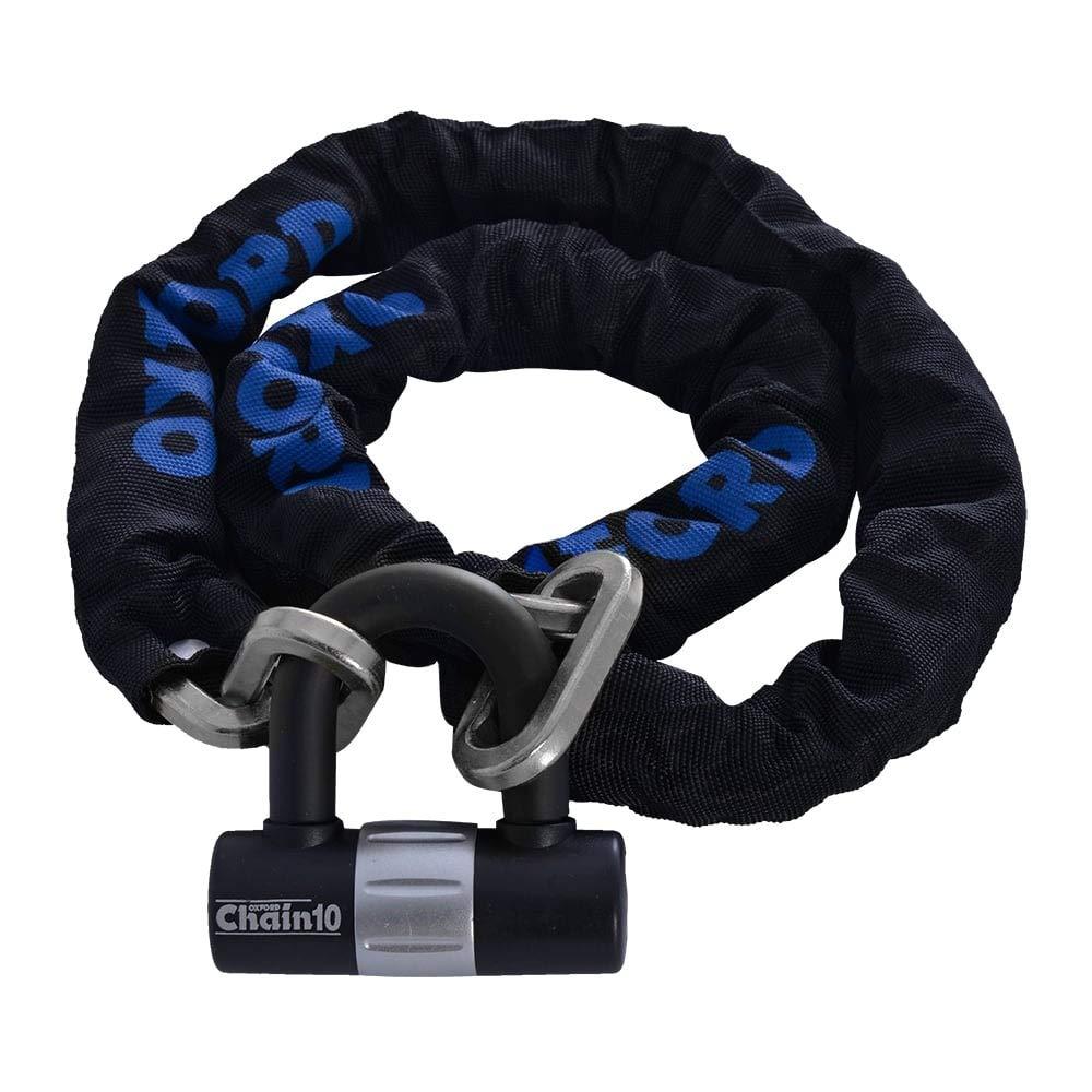 Oxford Products Bloque DE Cadena Alta Seguridad DE Moto ANTIRROBO con CANDADO Resistente Acero RECORDATORIO DE Bloqueo DE Disco Solo