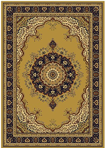 Silk Rugs Gold 5x8 Area Rug Beige Silk Traditional Carpet Rugs 5x7 Living Room Beige Rug Tabriz (Medium ()