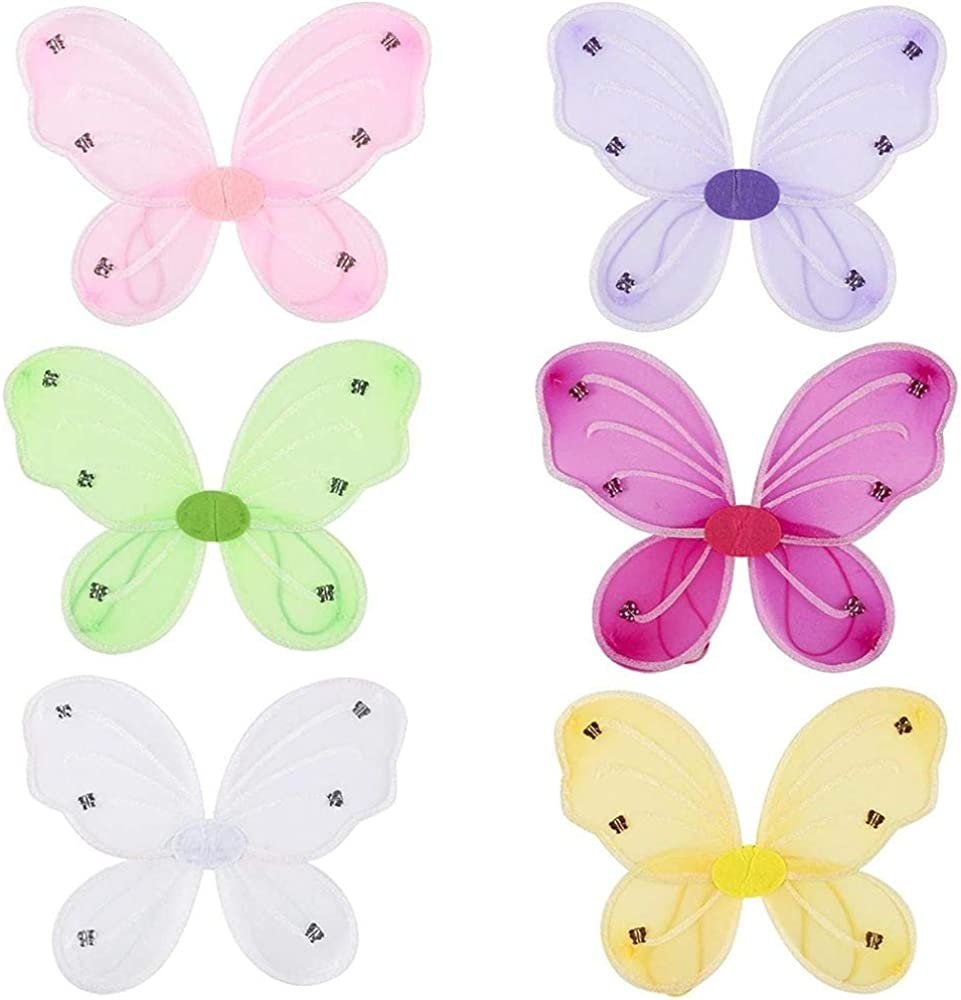 Set of 10 Butterfly Fairy Costume WINGS CHOOSE Color 17 by 13 Bulk Buy !!! 17 x 13