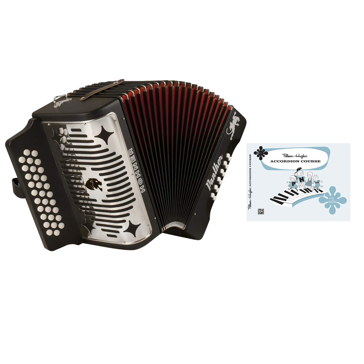 Hohner Black Panther Diatonic Accordion w/ FREE BOOK by Hohner Accordions (Image #1)