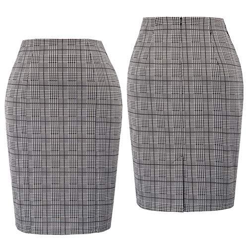 Qzbtu De Wai Pencil L Alta Para Mujer Falda Faldas Tela Escocesa nqAPnxaw4