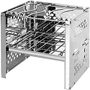 LLDWORK Camping Stove Cookware, Foldable Lightweight Wood Burning Stove for Backpacking, Camping, BBQ, Survival