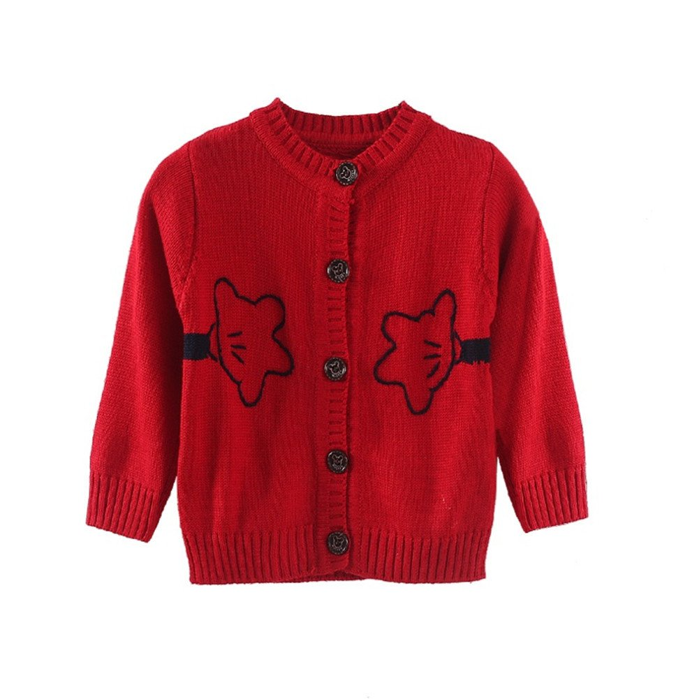 Mud Kingdom Toddler Boys Cartoon Cardigan Sweater Cute Z-S0175