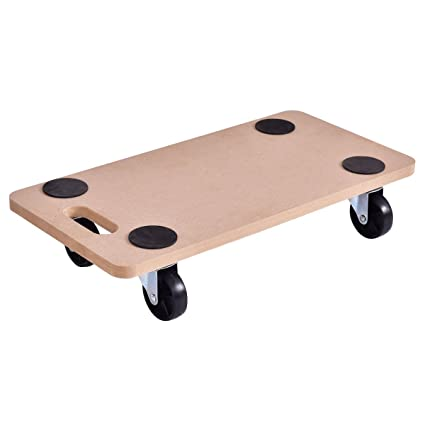 Goplus Moving Dolly Heavy Duty Wood Furniture Dllies Movers Carrier