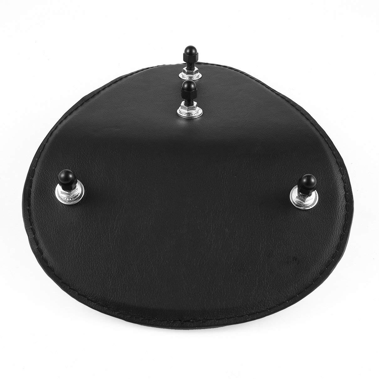 Togames nero Sedile da moto retr/ò in pelle di coccodrillo marrone//nero per sedile sella personalizzato in pelle Bobber