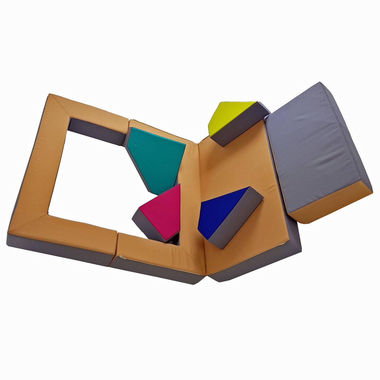 scalesport Spielsofa KG03B 4in1 Kindersofa Spielmatratze f/ür das Kinderzimmer Spielpolster Softsofa Puzzle Kinderzimmersofa Spieltisch Kinderm/öbel