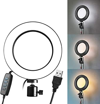 QYRL Photography Ring Light Mini LED Selfie Lamp Studio Photography Photo Lighting Fill Light for Net Red Mobile Phone Live Light 26Cm