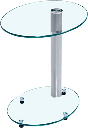 Clear Tempered Glass Coffee Table, Saving Space and Practical, for Living Room, Bed Room, Can Be Used As Side Table, Bedside Table.