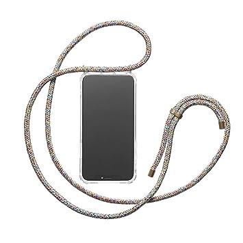 KNOK case KNOK Carcasa de movil con Cuerda para Colgar iPhone X - Funda para iPhone/Samsung/Huawei con Correa Colgante - con Cordon para Llevar en el ...