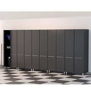 Ulti MATE Garage Cabinet System (5 Piece), Graphite Grey/Black