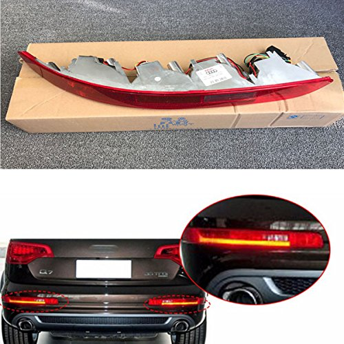 CNAutoLicht USA Type Passenger Right Side Lower Bumper Reflector Tail Light Reverse Stop Lamp With LED Bulbs Rear For Audi Q7 2007-2015