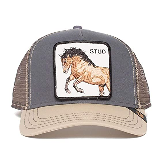 c959bb9fa2932 Goorin Brothers Unisex Animal Farm Snap Back Trucker Hat Grey You Stud One  Size  Amazon.co.uk  Clothing
