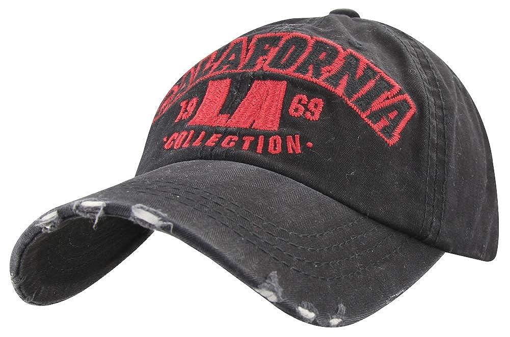 minakolife Distressed Vintage Cotton Washed Baseball Cap Snapback Trucker Hat