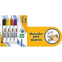 BIC 936899 Marcador para Pizarrón Blanco, Blister de 4 Piezas, Colores Surtidos Fashion