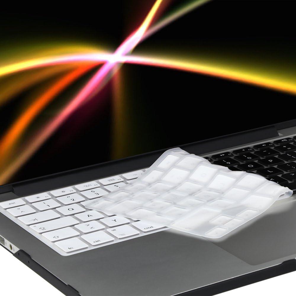 System-S Silikon Tastaturschutz Tastaturabdeckung QWERTZ Deutsche Tastatur Abdeckung Schutz f/ür MacBook Pro 13 15 17 iMac MacBook Air 13 in Rot