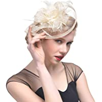 Bigood Women Bridal Headpiece Mesh Fascinators Derby Hat Photograph Headwear