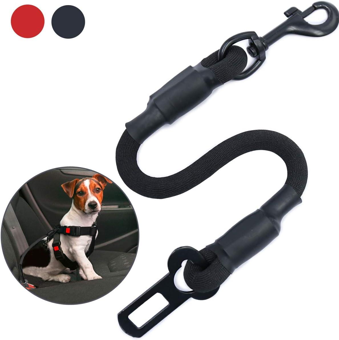 Hochbelastbare Elastischer Hundegurt mit Clip//Haken f/ür Alle Hunder und Katzen Universal f/ür Autos AMZNOVA Hunde Sicherheitsgurt