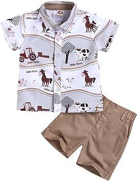 Camiseta de manga larga con estampado de vaca de dibujos animados y cuello redondo para beb/és y ni/ñas 2 unidades de conjuntos de trajes para 2 a 7 a/ños