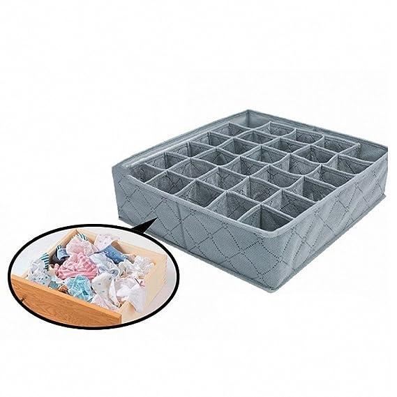 FairytaleMM Caja de Almacenamiento de Polipropileno no Tejido Tejido de bambú de bambú de la célula de los Calcetines Organizador de la Caja de ...
