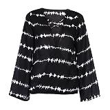 DaySeventh 2018 Women Loose Shirt Stripe Overlapping Chiffon Casual Tops