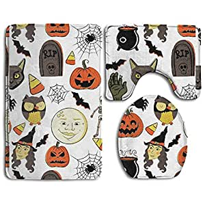 Bathroom Non-slip 3 Sets Vintage Halloween