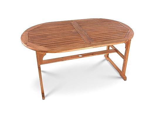 möbilia ® Mesa de madera maciza, acacia de madera mesa de jardín ...