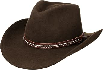 Lierys Sombrero Western The Rancher Hombre - Made in Italy de Vaquero Fieltro Lana con Banda Piel otoño/Invierno